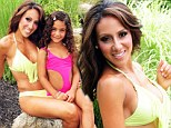 Like mother, like daughter: Real Housewives star Melissa Gorga poses for bikini shoot with young daughter in Jamaica
