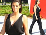 Getting in shape: Kim Kardashian headed to a furniture store in Miami on Monday as she shared her tips for shedding the Thanksgiving weight gain
