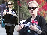 Out for a walk: Anna Paquin was spotted out with her three-month-old twins in Venice, California, on Sunday