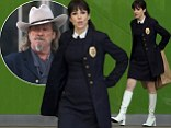 Suited and booted! Mary Louise Parker sports white knee-highs on set of new cop film... while co-star Jeff Bridges shoots scenes in his trusty cowboy hat
