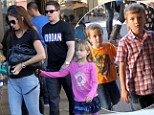 Our turn dad! Mark Wahlberg treats daughter Ella Rae to a movie... then returns the next day with her siblings