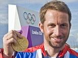 Golden boy: Ben Ainslie won his fourth gold medal at London 2012