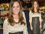 Pippa wears metallic outfit to jewellery partu