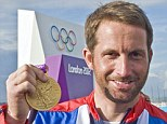 Golden boy: Ben Ainslie won his fourth gold medal at London 2012