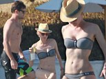 Caliente! Diane Kruger shows off her washboard abs in a strapless bikini as she enjoys romantic Mexican getaway with Joshua Jackson