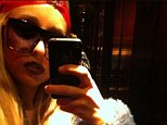 She's back! Amanda Bynes uploaded this picture of her wearing a red turban and a fur coat on her Instagram on three separate occasions