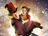 Movie star treatment: Matt Smith and Jenna-Louise Coleman appear in a new promotional poster for the Doctor Who Christmas Special, which features them suspended from a dangling ladder above the city of London