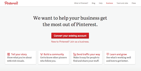 pinterest business account