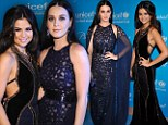 Seeking some relationship advice? Selena Gomez cuddles up to Katy Perry as brunette beauties slips into glamorous sparkling gowns for UNICEF Ball