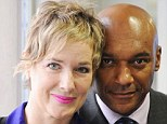 Nerve damage: Fiona Hawthorne with husband Colin Salmon. She is a trustee of a new charity, Facial Palsy UK
