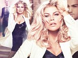 Viva Fergie! The Black Eyed Peas singer flaunts figure in cleavage-baring black dress in sultry new perfume ads