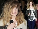 Whole Lotta Volume! Nicola Roberts goes for the bedhead look as she goes casual for girls' night out
