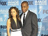 Split: West Wing star Dule Hill, right, has filed for legal separation from his wife Nicole Lyn, pictured here at the NAACP Image Awards in Los Angeles in March 2011