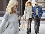 The happy couple: Malin Akerman and her husband Roberto Zincone were out in West Hollywood, California on Tuesday