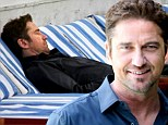 Getting his beauty sleep! Gerard Butler nods off ahead of interview while relaxing poolside