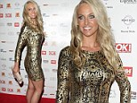 Well done! Josie Gibson showed off the results of her hard work at the OK Magazine Christmas Party