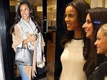 She's starting to show: Pregnant Rochelle Humes shows off small baby bump as she enjoys a trip to the hair salon
