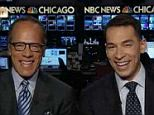 Lester Holt joined his son Stefan as he anchored the news in Chicago on Black Friday