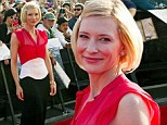 'A blast from the past!': Cate Blanchett shines in bright red gown as thousands of fans gather for the premiere of The Hobbit