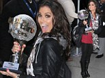Winner are grinners! Melissa Rycroft proudly poses with her mirror ball trophy the day after claiming victory on Dancing With The Stars
