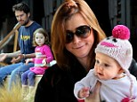 Alyson Hannigan has family day of fun in Malibu...and little Satyana learns how to meditate!