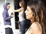 Elisabetta Canalis spotted combing handsome mystery man's hair in Venice Beach