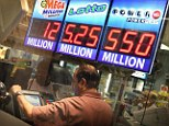 Treasure: Powerball officials say they now believe there is a 75 per cent chance the winning combination will be drawn