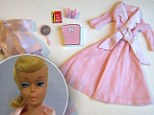 'Don't eat!': Controversial 1965 Slumber Party Barbie came with scales permanently set to 110lbs and a diet book telling her not to eat