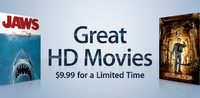 HD Movies: $9.99 for a Limited Time