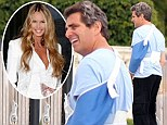 Survivor: Elle Macpherson's ex Jeffrey Soffer emerged in Miami on Thursday following a horror helicopter accident on Thanksgiving