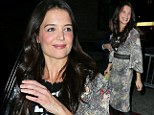That went well! Katie Holmes beams with pride after dazzling star-studded audience on Broadway opening night