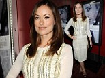 Now that's how you do granny chic! Olivia Wilde is stunning in sequined knitwear at premiere of her new thriller Deadfall