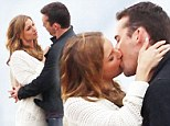 It's a hard life! Emily VanCamp smooches with co-star Barry Sloane on the beach as they film Revenge