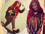 Surreal fashion show: Snooki tweets pictures of her 'skull leggings' and 'sexual Luichiny heels'