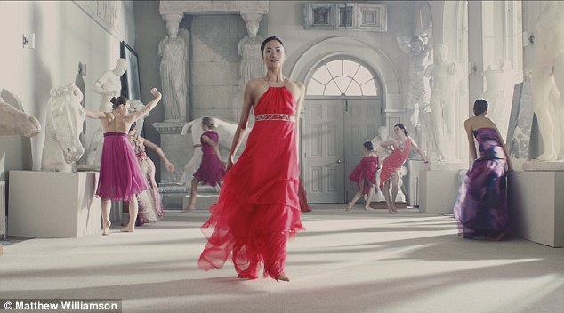 Multicoloured: Actresses and dancers performed in the film, directed by Tell No One, made to celebrate Matthew Williamson's 15-year career