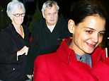 The mom and pop show! Katie Holmes' parents turn out to see her opening night on Broadway