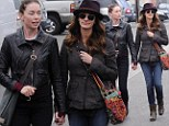 My new best friend! Julia Roberts holds hands with co-star Julianne Nicholson after dining together