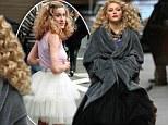 A tulle flashback! AnnaSophia Robb's black tulle dress on The Carrie Diaries set evoked memories of Sarah Jessica Parker's tutu