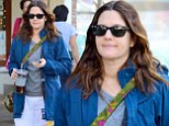 Back to the gym! Drew Barrymore stepped out for a workout on Wednesday but hid her slimmed down body in sweats and jacket