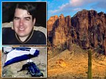 Quest: Jesse Capen, 35, went missing three years ago in the Superstition Mountains, Arizona while hunting for the 'Lost Dutchman's' gold mine