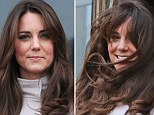 The Duchess of Cambridge loses a battle with the British weather