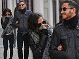 Taking a stroll: Kelly Monaco and Val Chmerkovskiy walk arm-in-arm in Manhattan on Wednesday