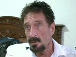 Multi-millionaire software developer John McAfee appeared on CNN for an interview on Friday and his blog was updated claiming 'unconfirmed reports' he had been arrest on Saturday