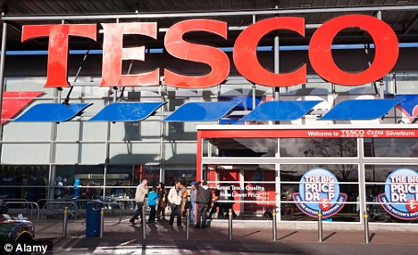 Bad news: Analysts have blamed the expected fall on price cuts on Tesco's non-grocery items