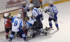 Children's ice hokey match called off in Russia after most players sin-binned for brawling - video