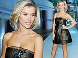 Joanna Krupa shimmers in black and gold frock while casting for Poland's Next Top Model