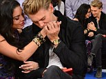 What game? Vanessa Hudgens and Austin Butler show some major PDA at Madison Square Garden