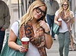 The 25-year-old proudly showed off her slimmed down post-baby figure as she shopped in Beverly Hills on Saturday.