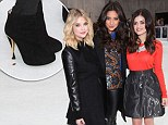 Not the most appropriate footwear for the ice rink! Pretty Little Liars stars Ashley Benson, Shay Mitchell and Lucy Hale ditch skates for sky high heels at TV launch