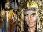 Foxy Pharaoh! Heidi Klum flaunts cleavage and jewel-encrusted face as Cleopatra as she FINALLY gets to celebrate her favourite holiday at postponed Halloween party